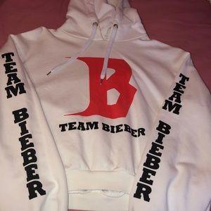 Cropped Justin Bieber hoodie
